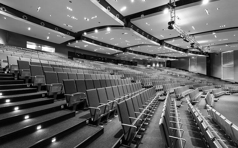 AV solution for the Auditorium of the College of North Atlantic Qatar