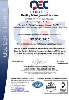 Techno Q QEC Certificate