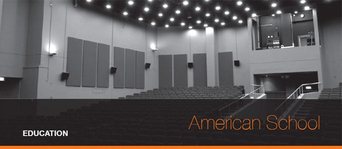 TechnoQ AV solution for the American School