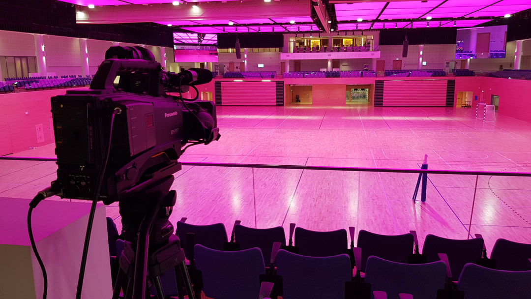 Audiovisual solution for QU sports Event Complex